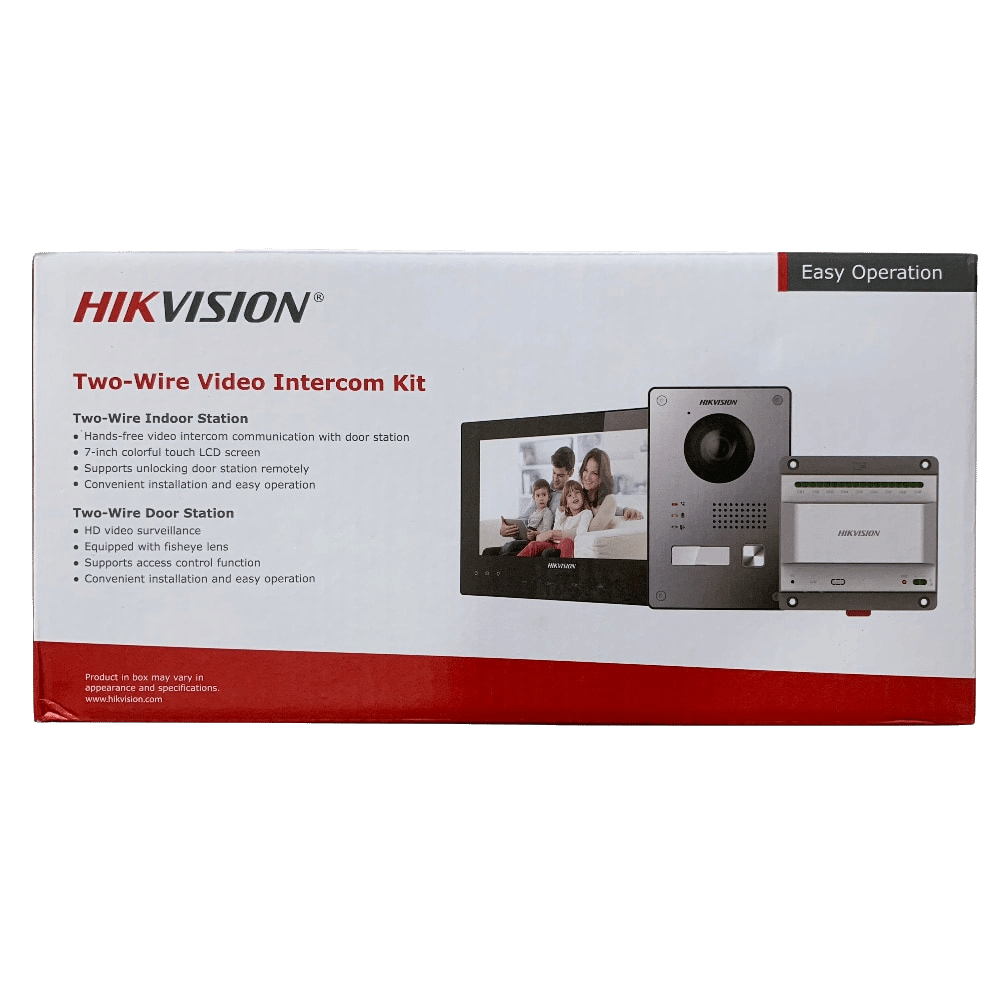 HIKVISION DS-KIS701 2-Wire Video Intercom KIT Bundle цена