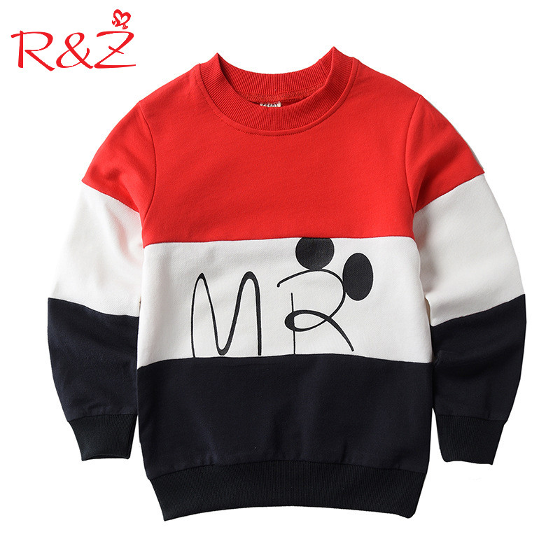 R&Z 2017 Designer Boys Sweatshirt Cotton T Shirt for Boys Cartoon Outwear Kids Clothes Spring Autumn Boys Tops Tees Clothes