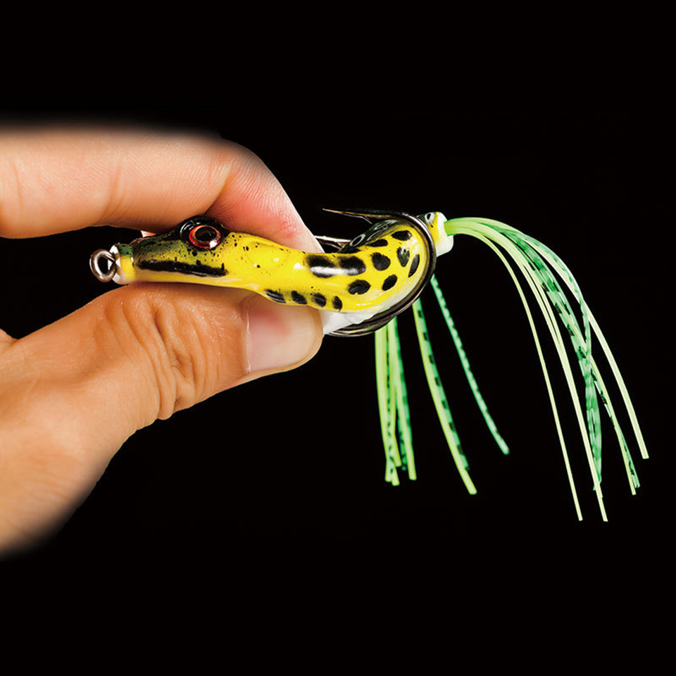 WALK FISH 1PCS High Quality Kopper Live Target Frog Lure 5cm/10g Snakehead Lure Topwater Simulation Frog Fishing Lure