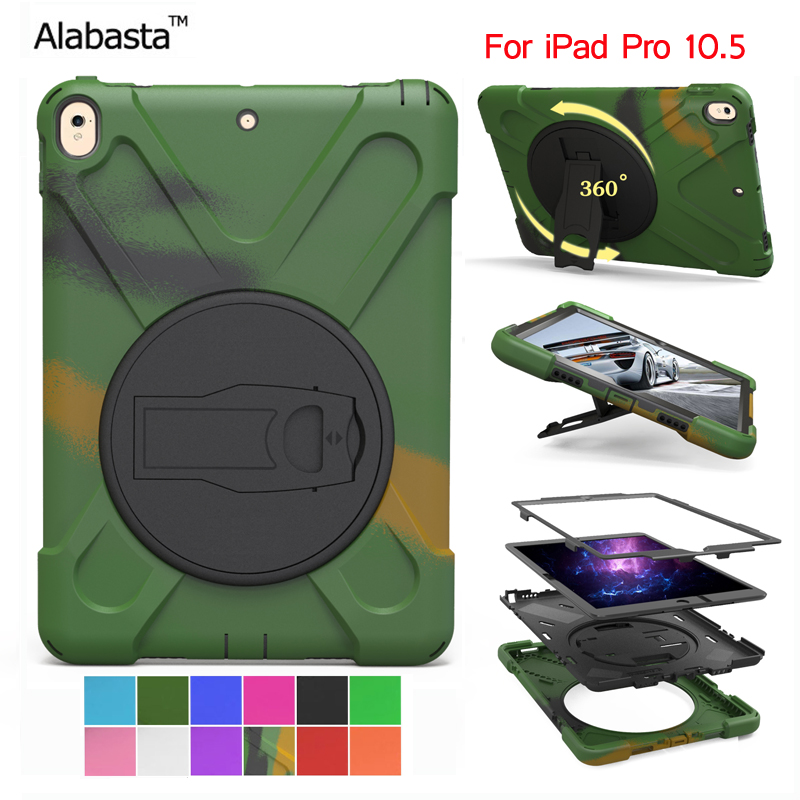 Alabasta for ipad pro 10.5 case Silicone with PC 2 in one Cover Heavy Duty Shockproof Stand Safe Shield Protector With stylus alabasta cover case for apple ipad air1