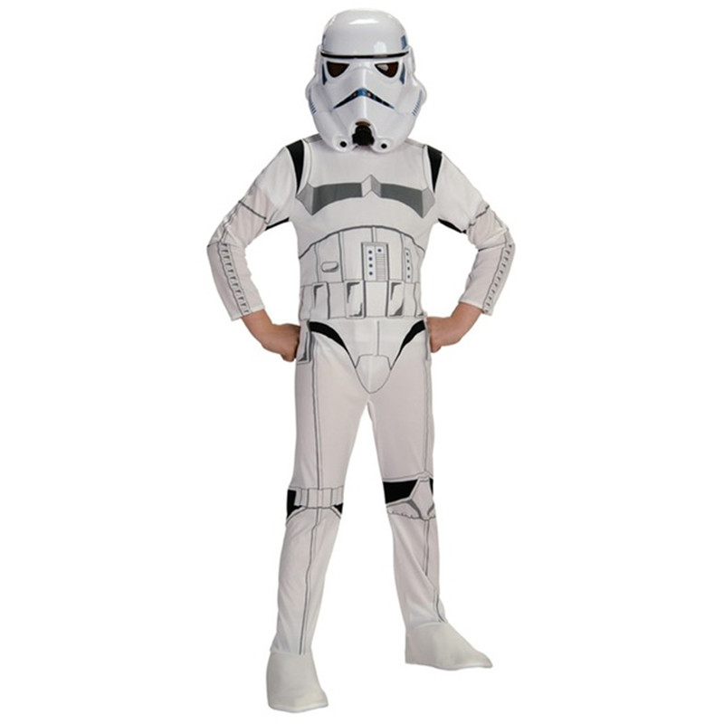 Stormtrooper Costume Space Station Superhero Astronaut Costumes Printed Jumpsuit Holiday Cosplay Clothing For Boys