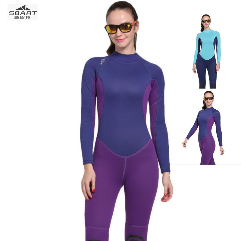 Sbart 1052 Scuba Diving Wetsuit Women 3mm Diving Suit Neoprene Swimming Wetsuit Surf Triathlon Wet Suit