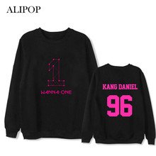 ALIPOP Kpop WANNA ONE Remier Show-Con Album Thin Hoodie Loose Hoodies Clothes Pullover Printed Long Sleeve Sweatshirts WY541