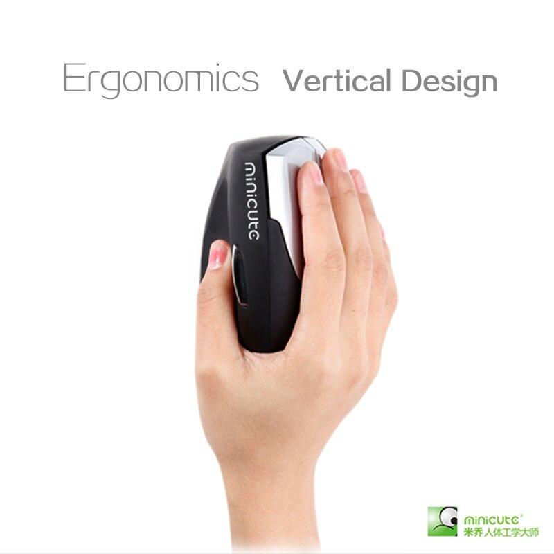 bilder für Minicute ezmouse2 3D mouse Right hand ergonomie vertikale maus mit Comfort Wrist Schmerzen Wireless/Verdrahtete Design