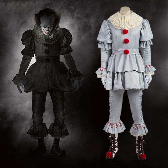 stephen kings it cosplay costume pennywise clown costume suit custom made fancy halloween terror costume for