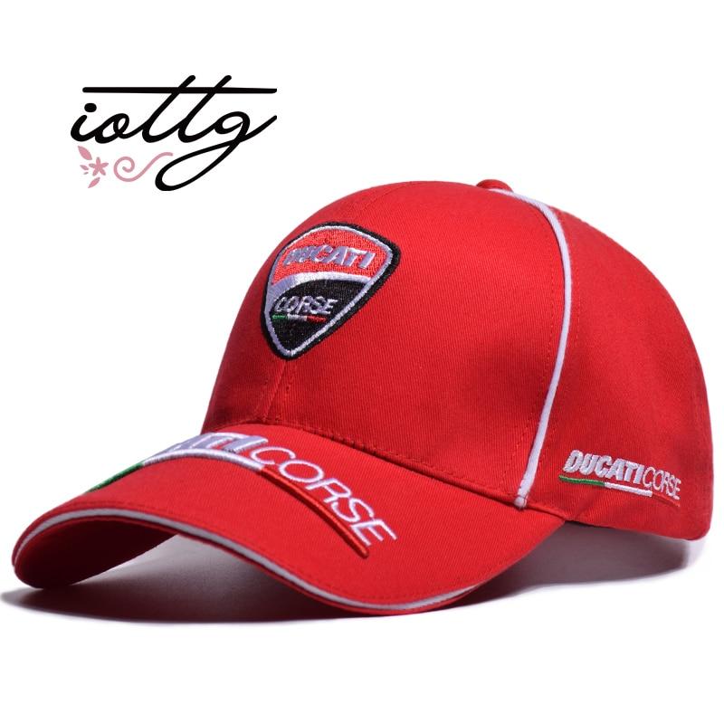 IOTTG High Quality MOTO GP Motorcycle Baseball Cap Ducati Embroidery Snapback Fashion Sports Hat F1 Racing Caps