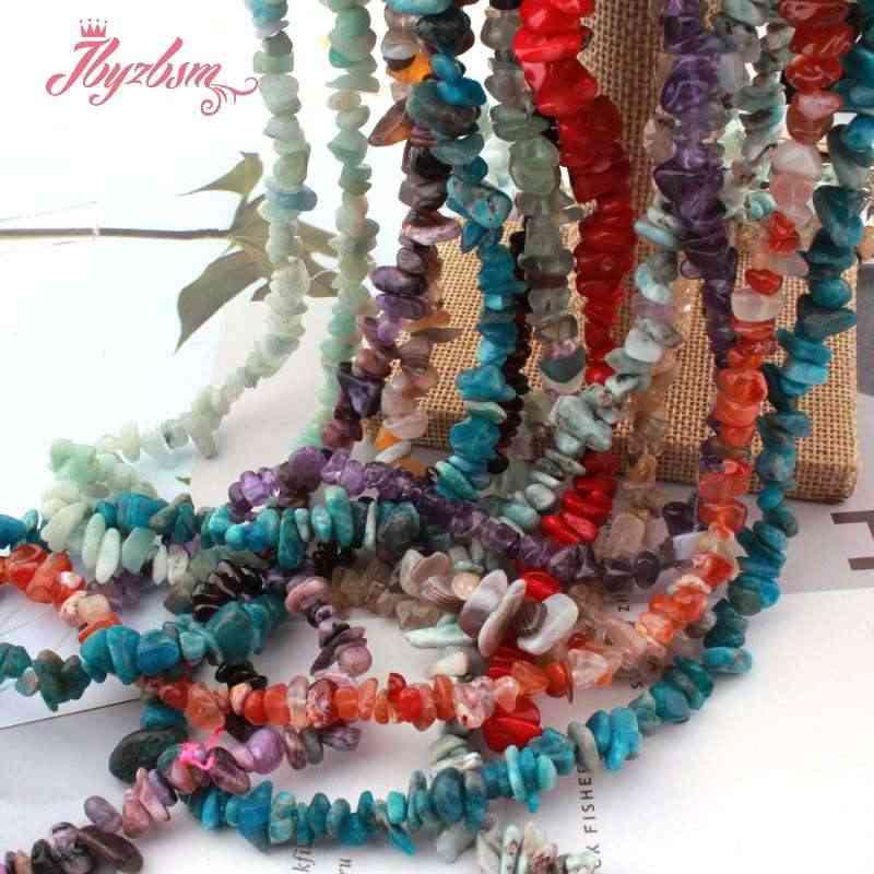 """4-7 Mm Alami Lapis KW Opal Kuarsa Bentuk Bebas Chip Batu Manik-manik untuk Hadiah Natal Diy Kalung Gelang Perhiasan membuat 16"""""""