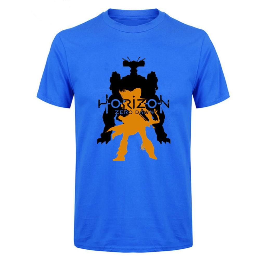 2018 hot console game HORIZON ZERO DAWN Machine and Aloy T shirts new game fans fashion tshirt monster shirt high quality online
