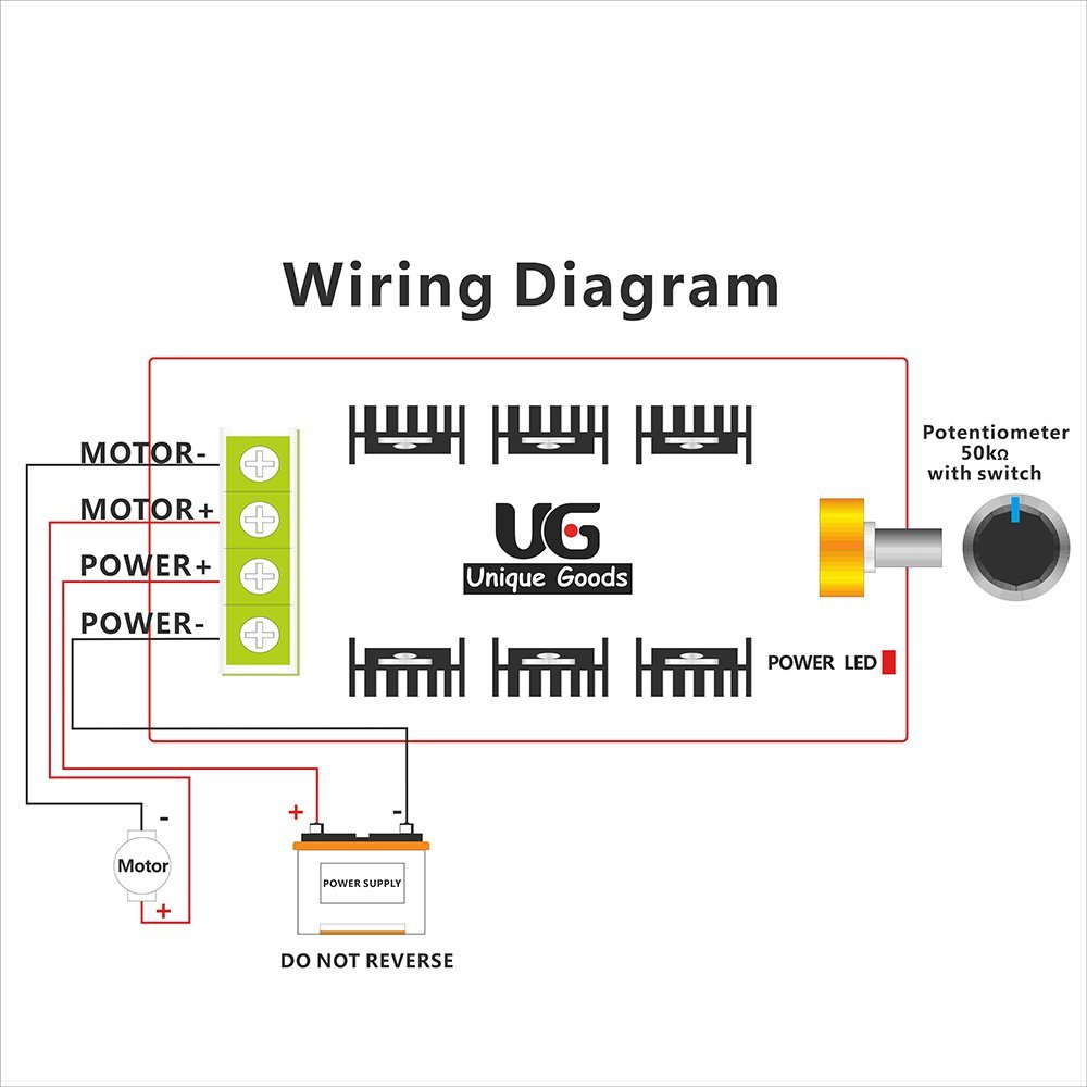 Free Shipping 12v 24v 48v 2000w Max 10 50v 40a Pwm Hho Dc Motor 12 Volt Reversible Wiring Diagram Speed Control Rc Controller Manufacturer Direct Supply In From Home