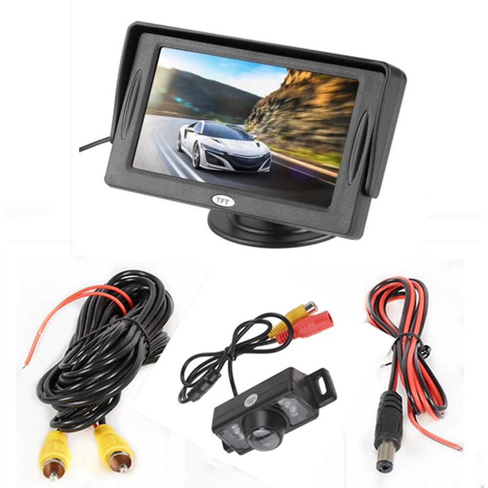 4,3 дюймовый TFT ЖК-цветной экран автомобильный монитор заднего вида парковочная помощь, камера заднего вида опционально - Цвет: With camera wired02