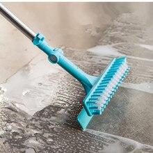Brosse à carreaux extensible pour la salle de bain, brosse pour le sol, à manche Long, serpillière rotative, outils de nettoyage de la salle de bain, maison, nouveau