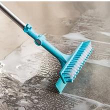 New Home Bathroom  Stretchable Tiles Brush Corner Floor Bathroom Floor Brush Long Handle Mop Rotation Bathroom Cleaning Tools