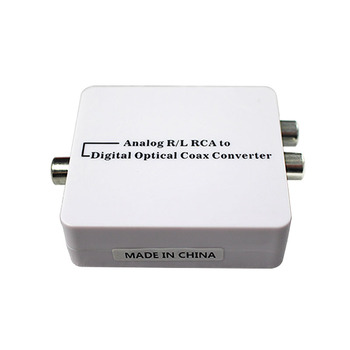 Analog to Digital Audio Converter Adapter From R/L RCA audio to Coaxial or Toslink Optical Coaxial