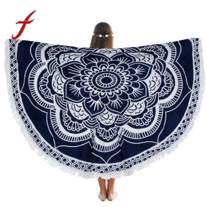 Indian Round Mandala Tapestry Wall Hanging Throw Towel Beach Pool Home Shower Towel Blanket Table Cloth Circle Beach Towel
