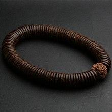 Натуральная рудракша бусины мала браслеты молитвенные мужские ювелирные изделия 12 мм Дерево браслет для женщин деревенский Yogis ювелирные изделия