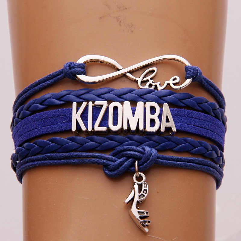 Infinity Tình Yêu Kizomba Vòng Tay Handmade Cao Gót Giày charm Bracelet & Bangles handmade Braid jewelry Cho Phụ Nữ Drop Shipping
