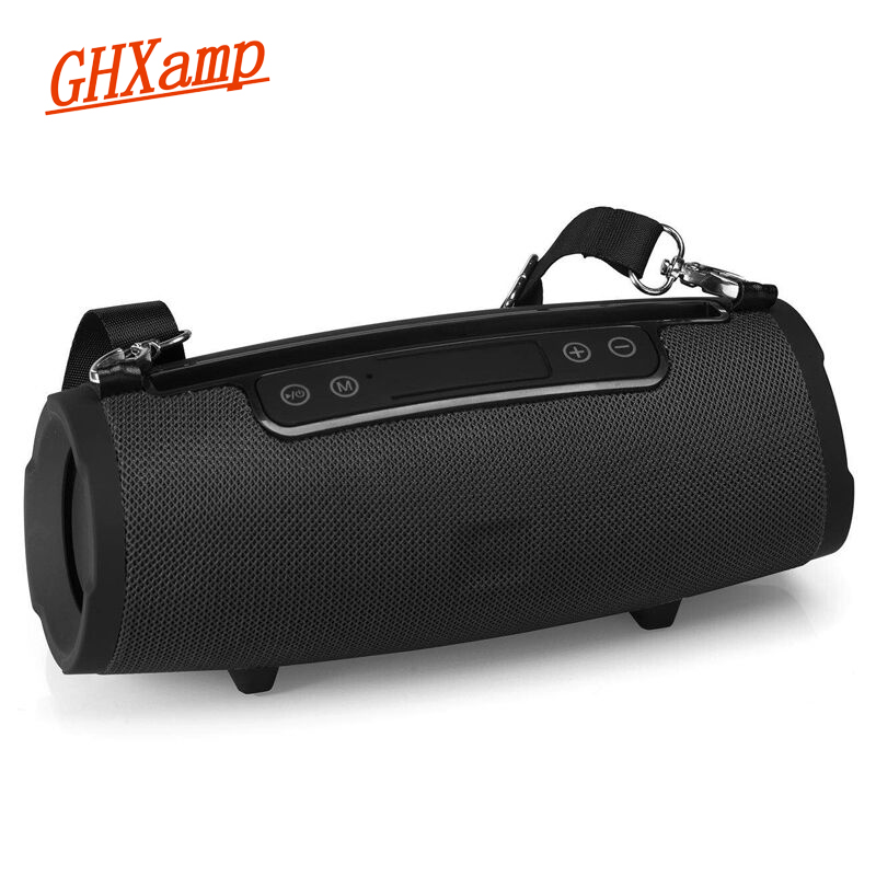 GHXAMP Portable Bluetooth Speaker With Phone Holder FM Radio Stereo Subwoofer Hands Free Outdoor Drum Wireless Loudspeaker 1PC ghxamp portable bluetooth speaker wireless column fm radio hifi 3d stereo outdoor loudspeaker hands free support tf card 1pc