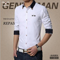 New Hot 2016 shirt  men trend fashion Leisure Men's long-sleeved shirt XL solid all-match Men's Spring Autumn Period shirt
