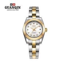 Marca GUANQIN Mecánica Reloj Luminoso de la Mujer Niñas Relojes 2016 Mujeres de Lujo Vestido de Diamantes Señoras Reloj Reloj Montre Femme