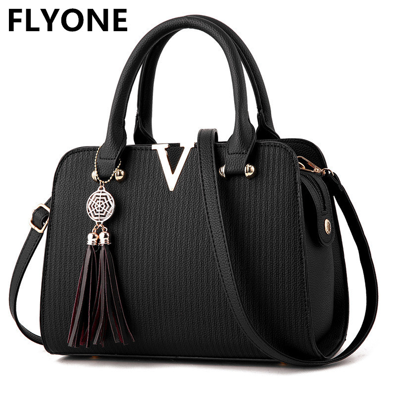 High Quality V Letter Women Leather Handbags Fringed Female Crossbody Shoulder Bag Striped Ladies Messenger Handbag Bolsos Mujer genuine leather women bag 2018 summer handbag wrinkle skin female high quality cowhide shoulder crossbody bolsos mujer beach bag