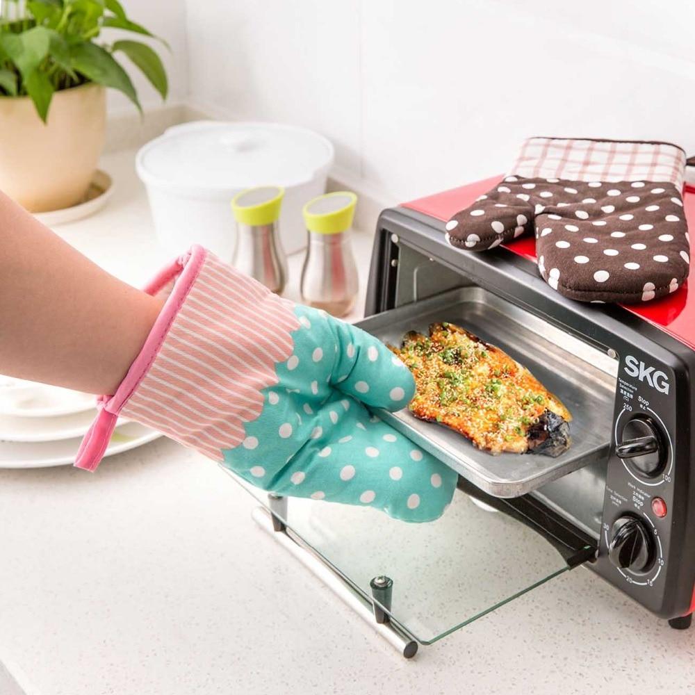 100/% coton Home cuisine barbecue résistant à la chaleur isolé cuisson four Mitaine Gants