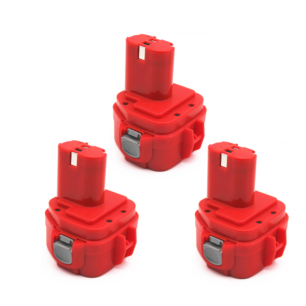 3pcs 12V PA12 2000mAh Ni CD For Makita Rechargeable Battery Replacement Tools Battery for Makita 1220 1222 1233S 1233SA 1233SB-in Replacement Batteries from Consumer Electronics    1