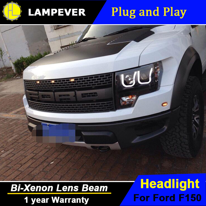 2014 F150 Headlights >> Us 634 95 15 Off Lampever Styling For Ford Raptor Led Headlight F150 Headlights 2011 2014 Drl Lens Double Beam H7 Hid Xenon Car Accessories In Car
