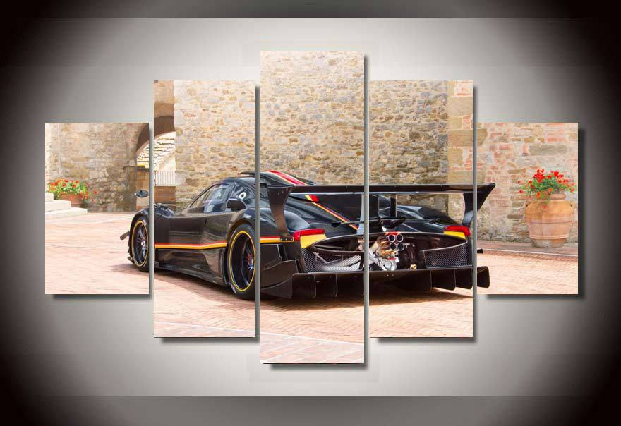 5 piecesset printed sports car painting wall art childrens room decor print poster picture
