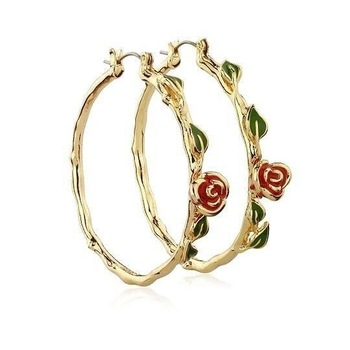 Vintage Red Rose Flower Earrings Silver Gold Color Circle Hoop Earrings For Women Statement Party Jewelry.jpg 350x350 - Vintage Red Rose Flower Earrings Silver Gold Color Circle Hoop Earrings For Women Statement Party Jewelry Bijoux Gift aros mujer