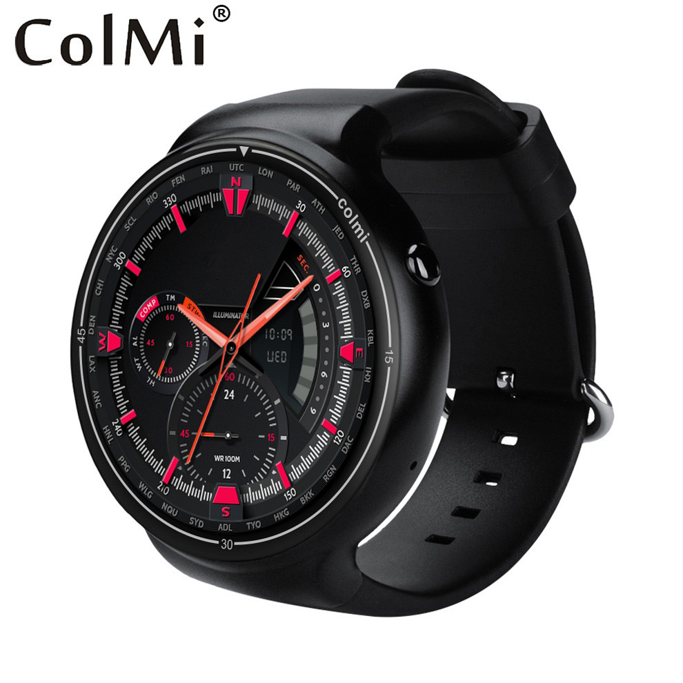 ColMi i1 Smartwatch 2GB RAM+16GB ROM Android 5.1 3G WIFI GPS Google Play Heart Rate Monitor Connect Android IOS Phone Watch no 1 d6 1 63 inch 3g smartwatch phone android 5 1 mtk6580 quad core 1 3ghz 1gb ram gps wifi bluetooth 4 0 heart rate monitoring