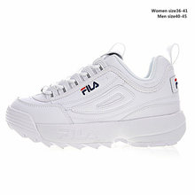 2018 Filas Disruptor II 2 Men and Women Sneaker Running Shoes White-brown and white summer Increased Outdoor Sneaker size 36-44(China)