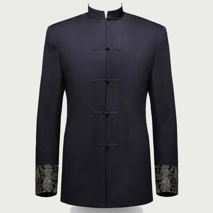 Single breasted slim fit blazer men chinese tunic suit jacket male suits man fashion blazers stand collar autumn plus velvet single breasted slim fit blazer men chinese tunic suit jacket male suits man fashion blazers stand collar autumn plus velvet