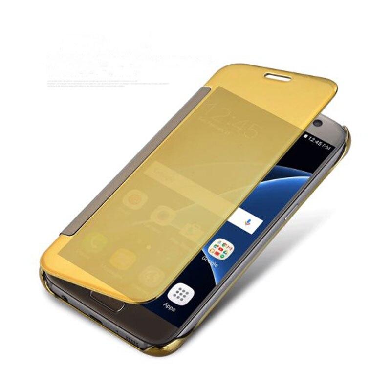 Для Coque Samsung S7 случае зеркало Clear View Смарт Флип кожаный чехол для телефона Samsung Galaxy S7 крышка G9300 hoesje <font><b>ETUI</b></font> Fundas