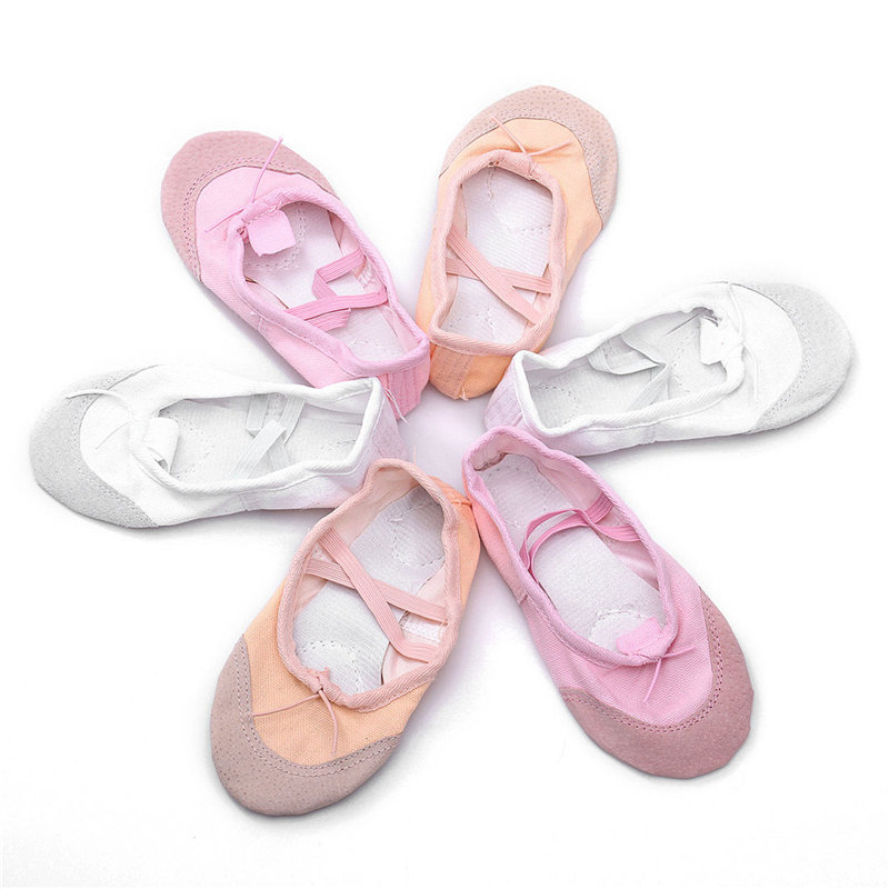 New Children Kids Girls quality Canvas Ballet Dance Shoes Kids Girls Slippers Pointe Dance Gymnastics Shoes Sports Socks 5 color