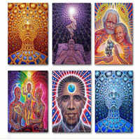 Wallcovering Alex Grey Oversoul Trippy Psychedelic Abstract Poster Silk Print Painting Wall Art Picture Home Decor
