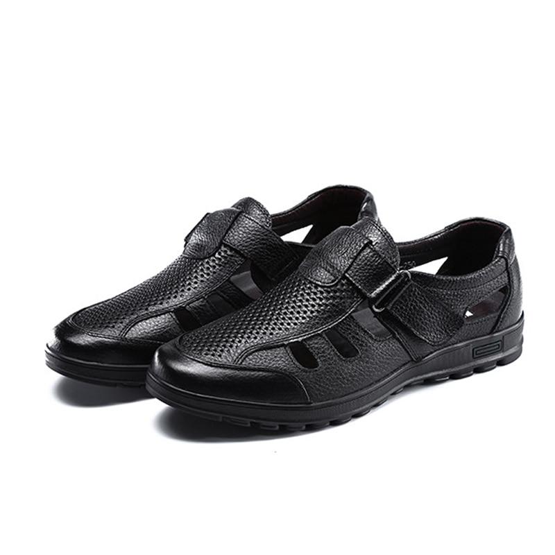 ヾ(^▽^)ノYween gota marca para hombre sandalias de cuero genuino ... a4354c333688