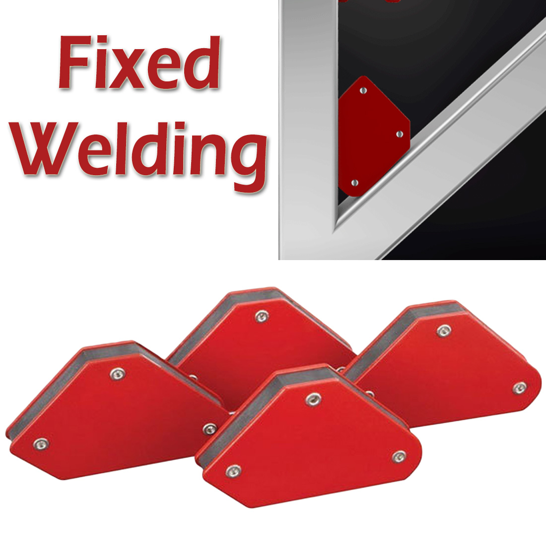 4pcs/set 9LB Welding Locator Strong Magnet Welder Positioner 45 90 135 Power Tool Soldering Fixture Magnetic Welding Holder