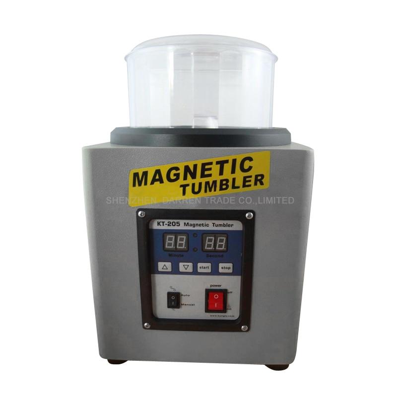 KT-205 1100g 110V/220V Ferromagnetic Powerful Magnetic Tumbler Powerful Electric Magnetic Polishing Machine