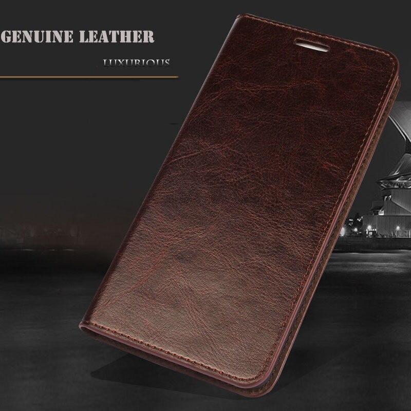 imágenes para Tirón de la Carpeta de lujo Del Cuero Genuino para el iphone 6 s Caja Del Teléfono Cubierta de Cuero para el iphone 6 6 s Con soporte