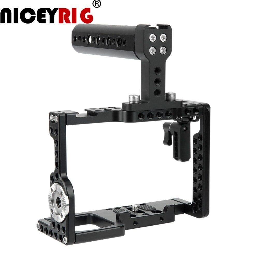 NICEYRIG Cage Camera Rig per Sony a7m3 a7r3 A7RIII a73 A7III a7m3 A7MIII A9 a7r2 A7RII a7s2 A7SII dslr Rig mano Top 1/4 1/4