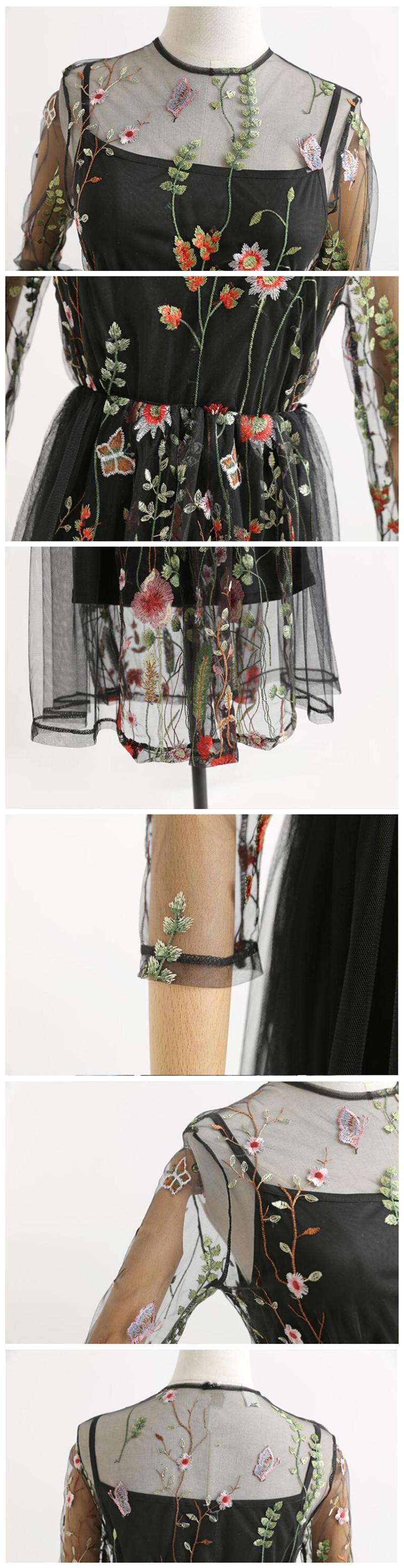 Omapärane lilledega võrgust kleit