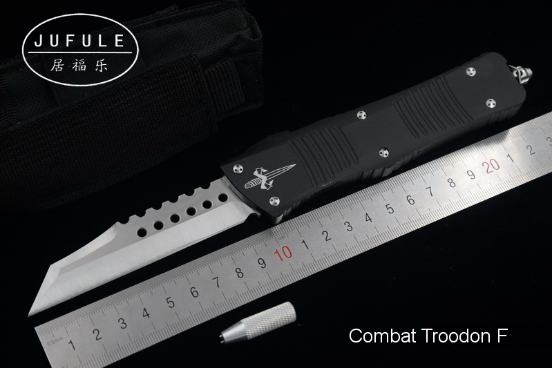JUFULE New Combat Troodon UTX Ultratech D2 blade aluminum camping survival outdoor EDC hunt Tactical tool dinner kitchen knife dicoria made halo iv 4 troodon d2 blade aluminum handle camping hunting survival outdoor edc tool dinner kitchen knife set