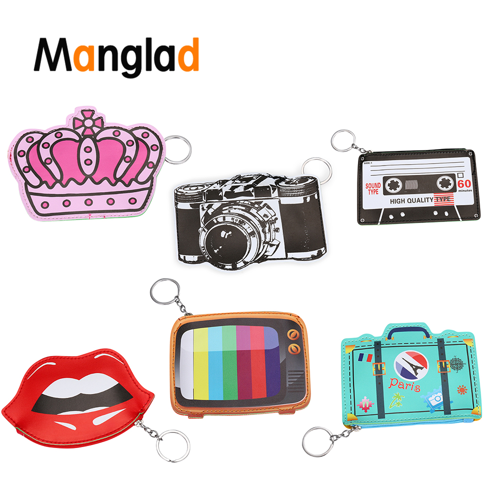 Luggage & Bags Coin Purses & Holders Bentoy Funny Leather Wallet Woman Fantasy Coin Purse Cute Camera Emoji Tv Design Purse Girls Small Bag Key Ring Change Pouch