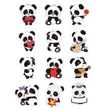 Группа милых панд, железные нашивки для одежды, железные полосы для одежды, нашивки, термоколлагенты, футболка