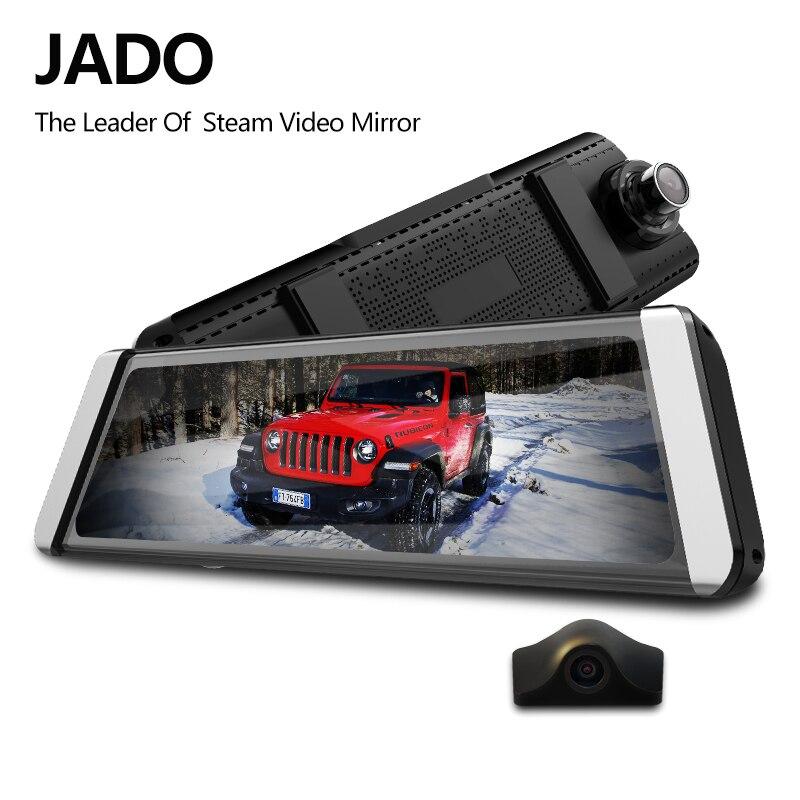 JADO D800s X1 Stream Rearview Mirror LDWS GPS Track 10 IPS Touch Screen Full HD 1080P Car Dvrs Dash cam