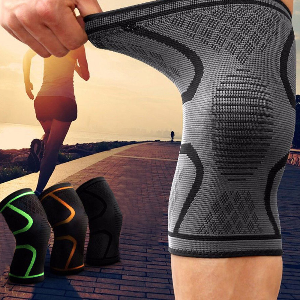 Dos piezas manga rodilla compresión Brace apoyo deporte dolor artritis alivio