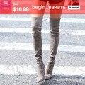 Mulheres esticar botas de sapatas das mulheres sobre o joelho de inverno primavera botas sapatos de salto alto de alta qualidade mantenha quente coxa alta botas