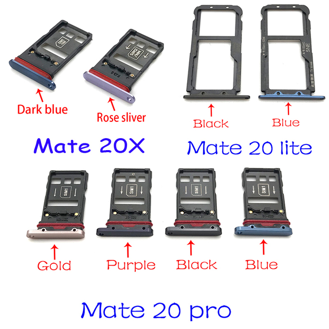 New For Huawei Mate 20 Lite Pro X 20X Micro Nano SIM Card Holder Tray Slot Holder Adapter Socket