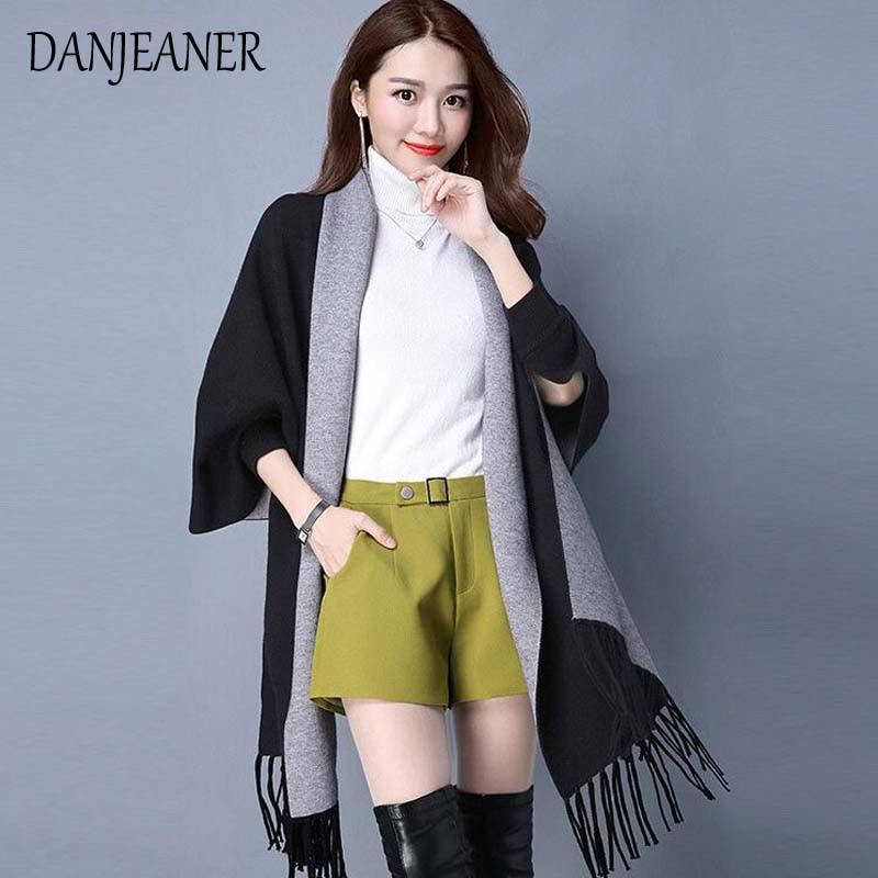And Autumn Thick Thin Cloak Tassel Cardigan Coat Cashmere Coat Mink Cashmere Shawl Sweater Female Double Bianfushan