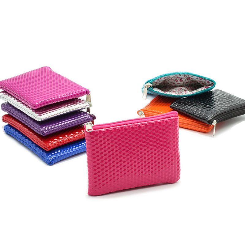 New Women Coin Purse Fashion Famous Coin Bag for Her Mini Money Wallet Key Holder Solid Alligator Coin Pouch Pocket Women Bag